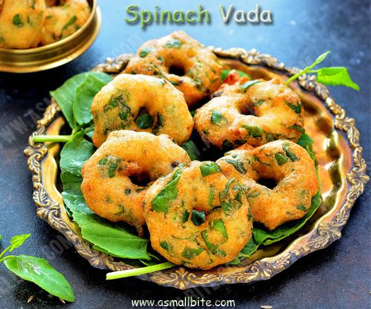 Spinach Medhu Vada Recipe