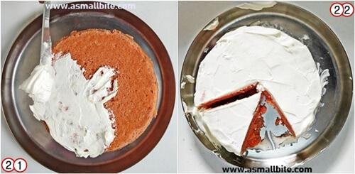 Eggless Strawberry Cake Recipe Steps11