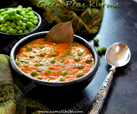 Green Peas Kurma Recipe 1
