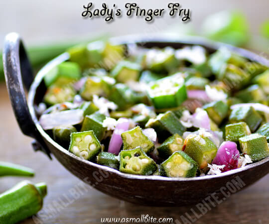 Ladys Finger Fry Recipe 1
