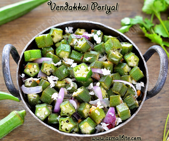 Vendakkai Poriyal Recipe 1