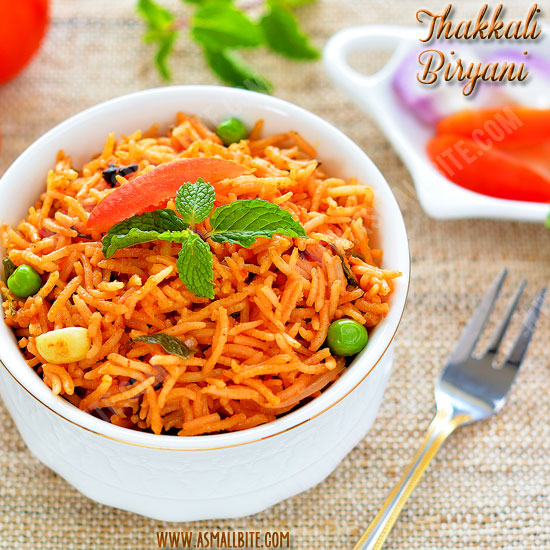Thakkali Biryani Recipe 1