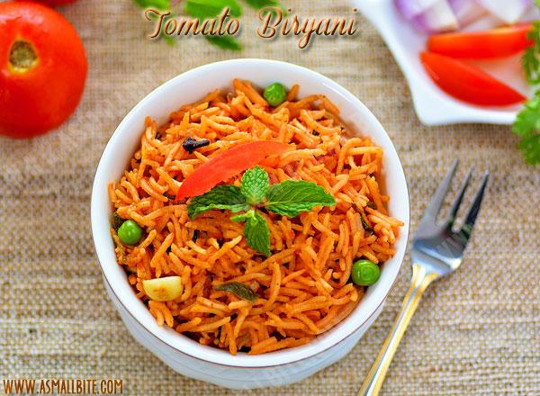 Tomato Biryani Recipe 1