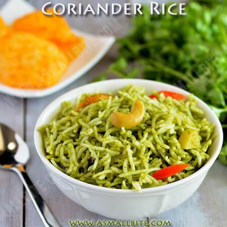 Coriander Rice Recipe 1