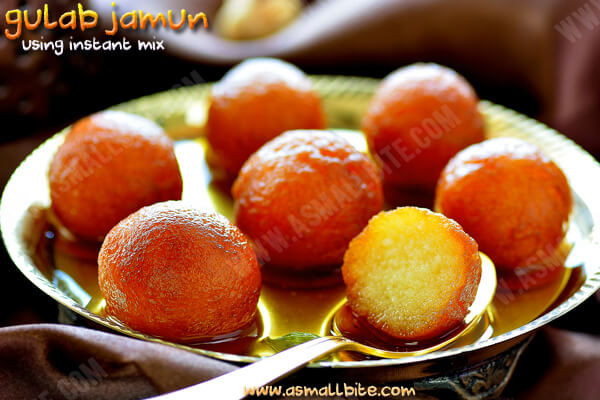 Gulab Jamun with Instant Mix