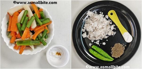How to make avial recipe Steps1