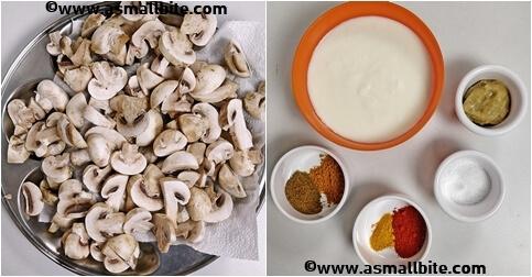 Chettinad Mushroom Biryani Recipe Steps1