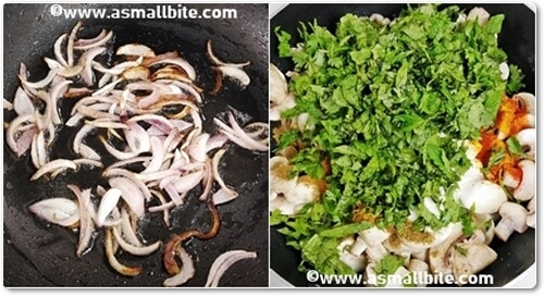 Chettinad Mushroom Biryani Recipe Steps4