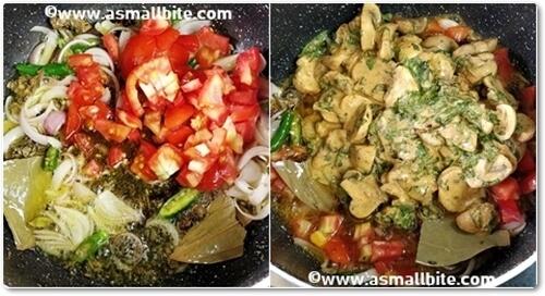 Mushroom Biryani Recipe Steps7