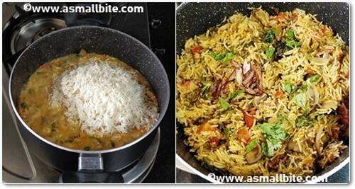 Mushroom Biryani Recipe Steps9