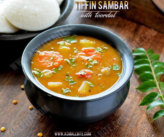 Tiffin Sambar with toor dal recipe