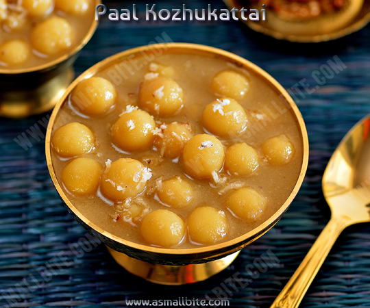 Chettinad Paal Kozhukattai Recipe