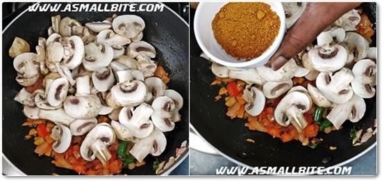 Mushroom Masala Recipe Steps4