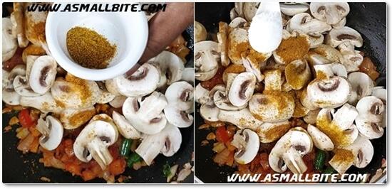 Mushroom Masala Recipe Steps5