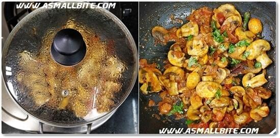 Mushroom Masala Recipe Steps6