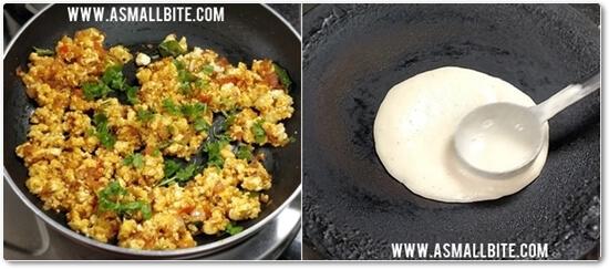 Saravana Bhavan Paneer Dosa Recipe Steps6