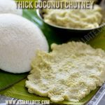 Thick Coconut Chutney Recipe