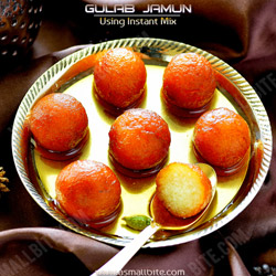 Instant Gulab Jamun Diwali Sweets Recipes