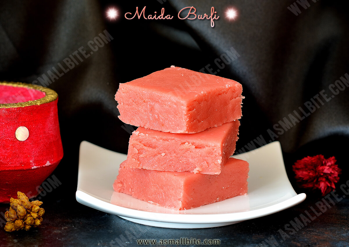 Maida Burfi Recipe 1