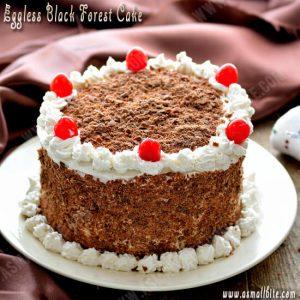 Eggless Black Forest Cake Recipe 1
