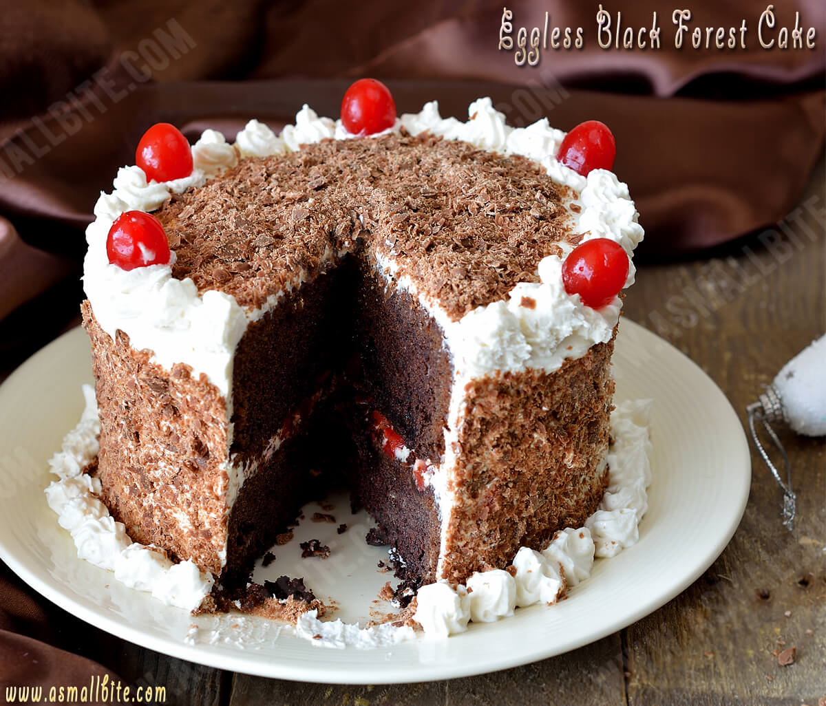 Eggless Black Forest Cake Recipe 2