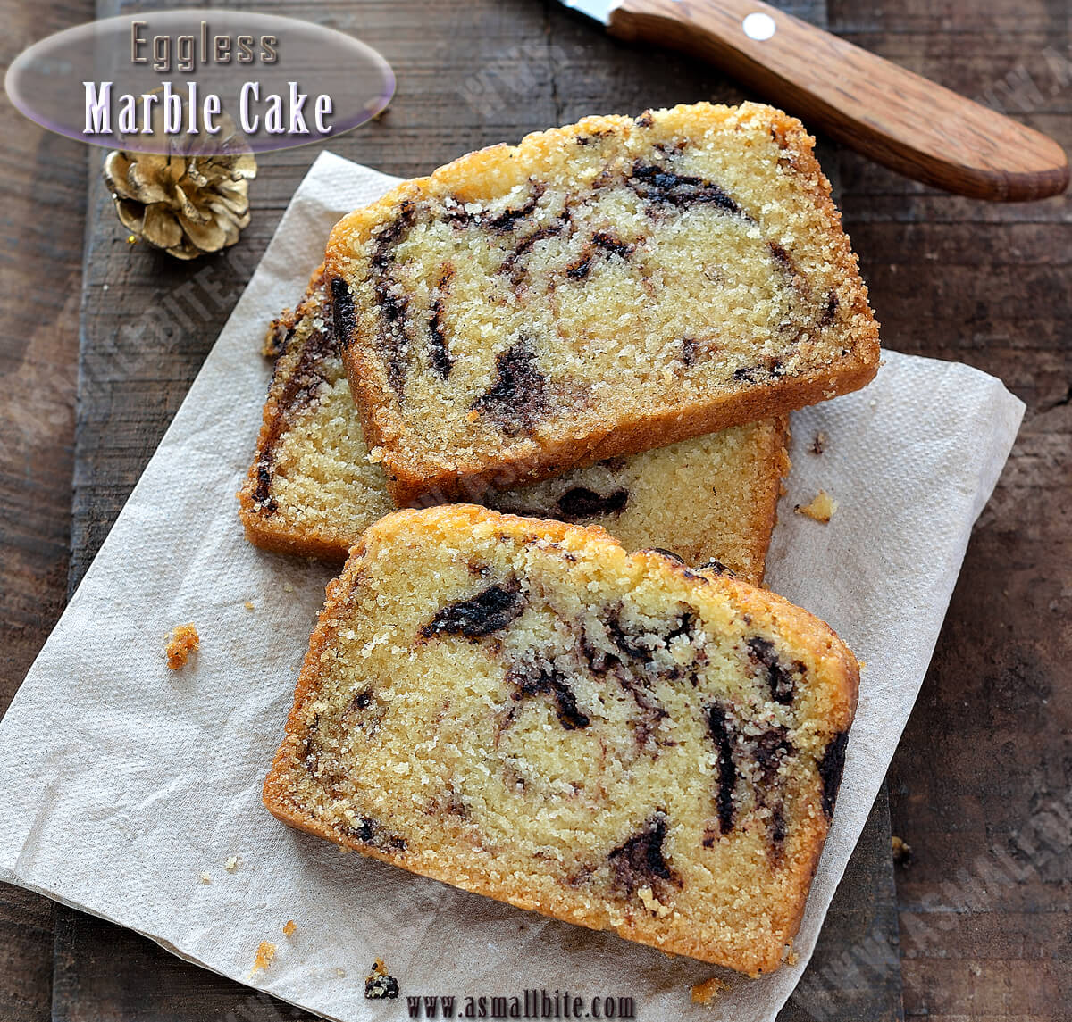 Eggless Marble Cake Recipe 3
