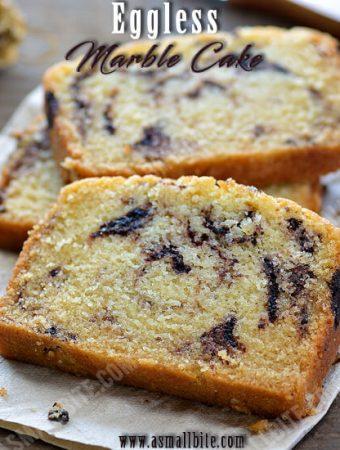 Eggless Marble Cake Recipe