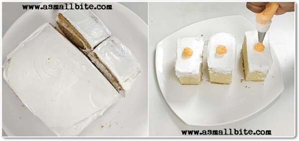 Eggless Vanilla Pastry Cake Recipe Steps8