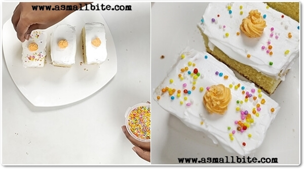 Eggless Vanilla Pastry Cake Recipe Steps9