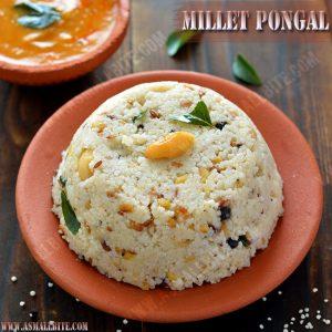 Millet Pongal Recipe 1