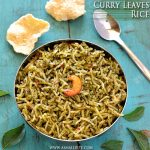 Curry Leaves Rice Recipe | Karuveppilai Sadam Recipe