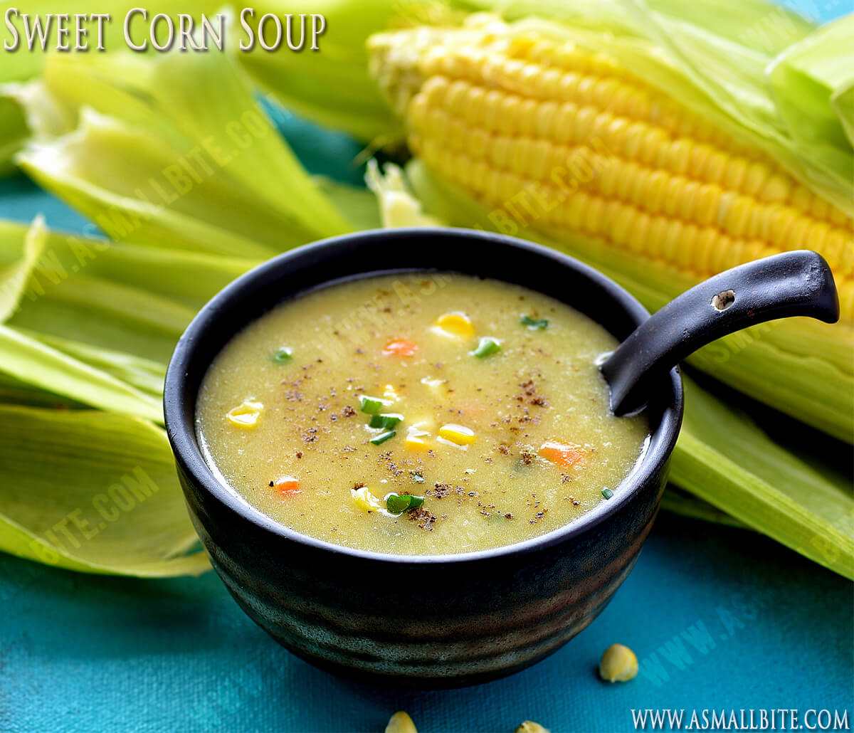 Veg Sweet Corn Soup Recipe