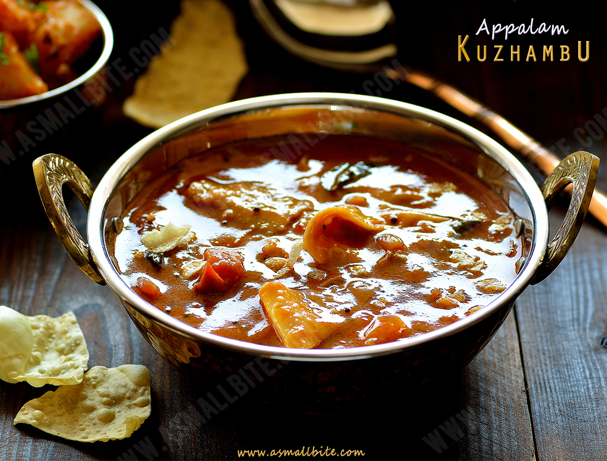 Appalam Kuzhambu Recipe 2