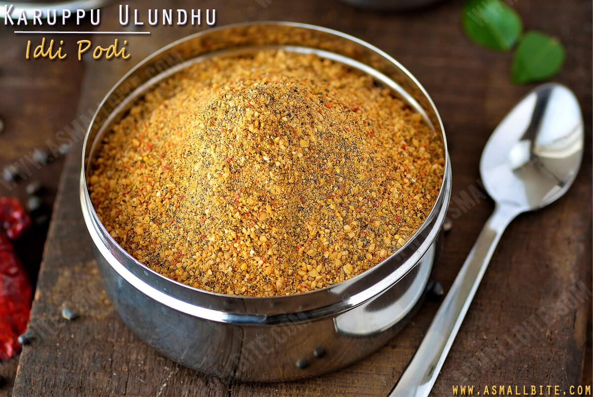 Karuppu Ulundhu Podi Recipe