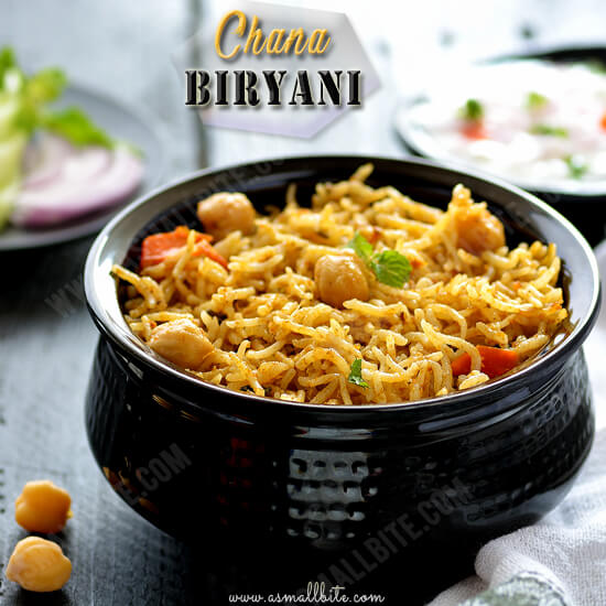 Chana Biryani Recipe 1