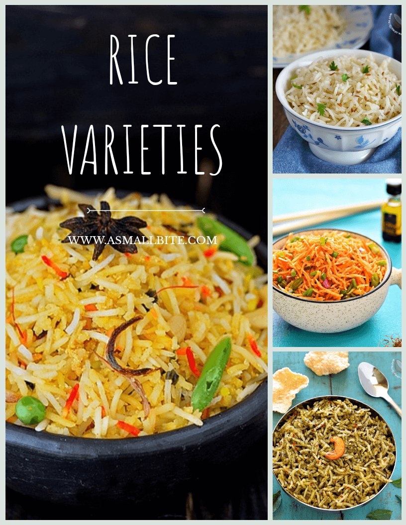 Indian Vegetarian Rice Dishes Recipe Index