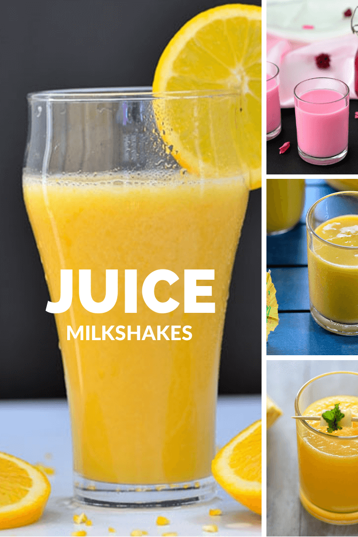 Juice Milkshakes Recipes