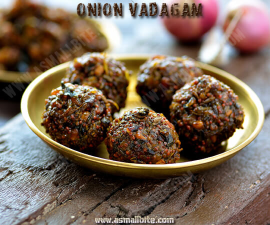 Onion Vadagam Recipe