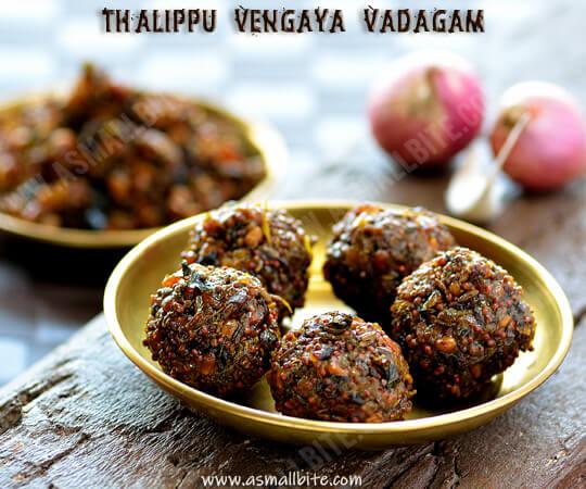 Thalippu Vengaya Vadagam Recipe 1