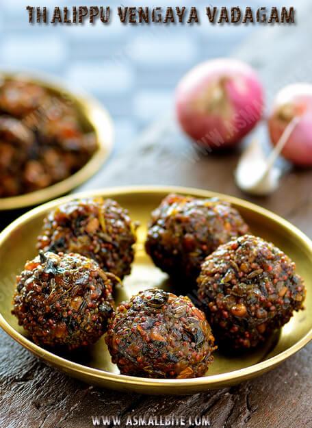 Thalippu Vengaya Vadagam Recipe