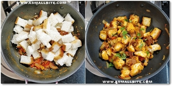 How to make Bread Upma Steps5