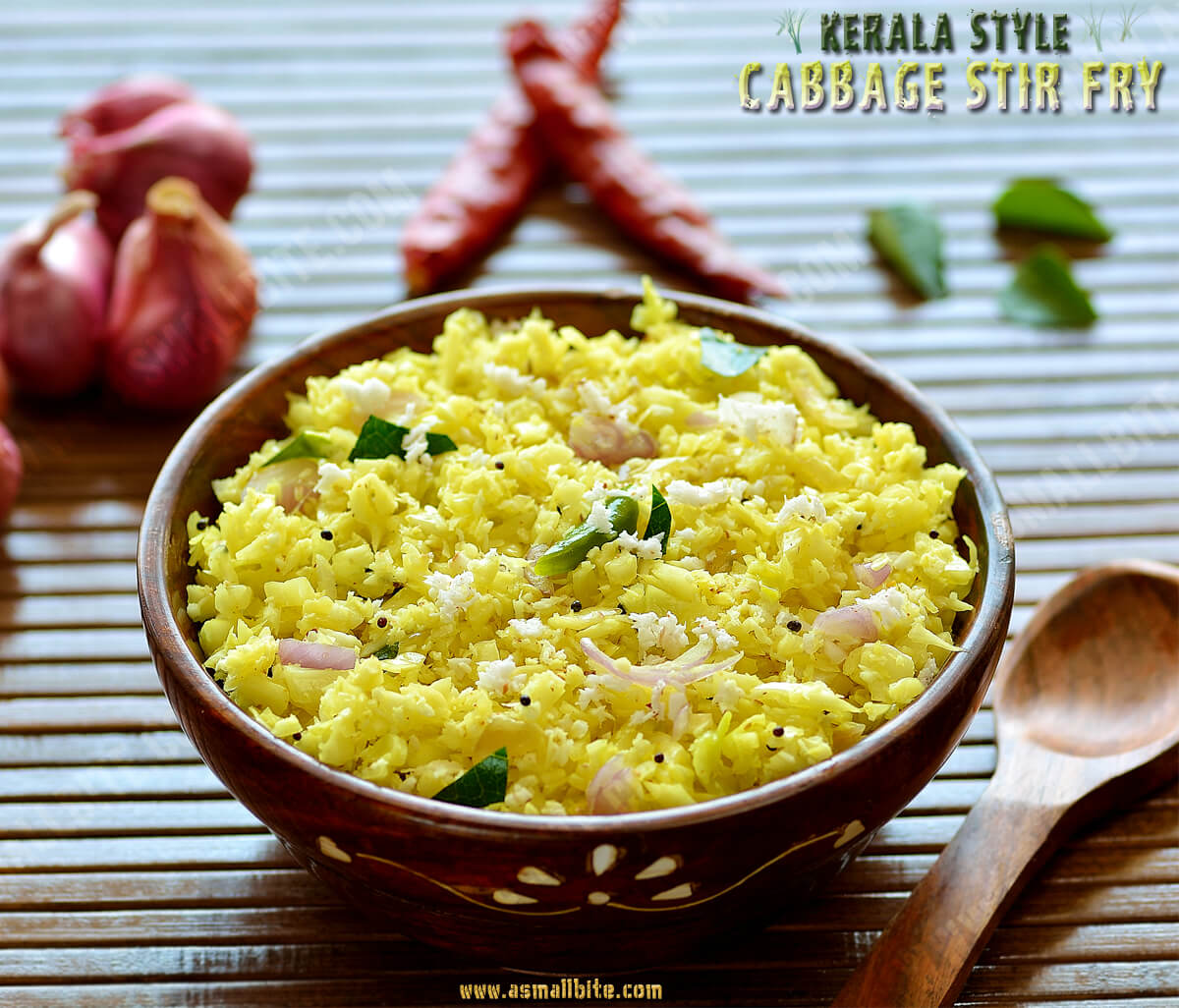 Kerala Style Cabbage Stir Fry