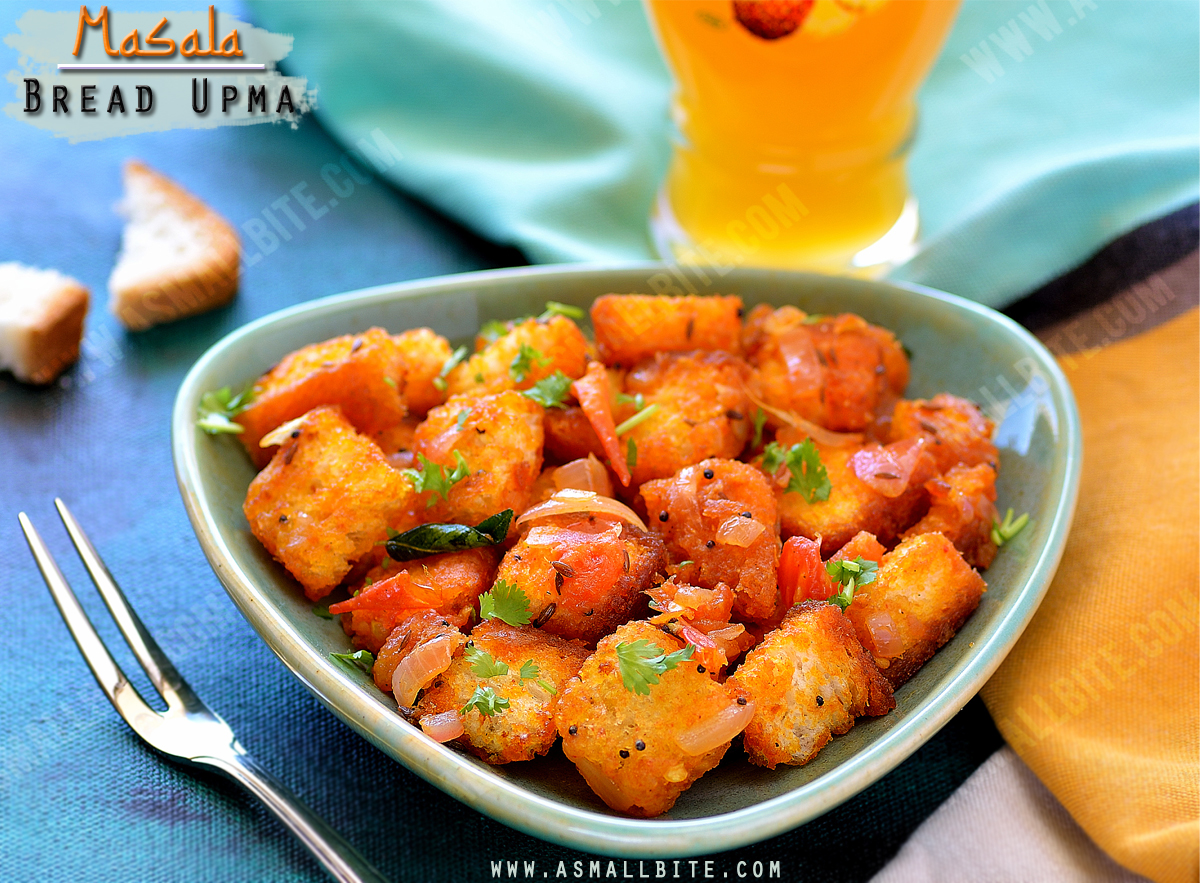 Masala Bread Upma Recipe 1