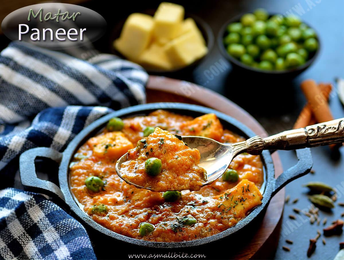 Matar Paneer Recipe Restaurant Style