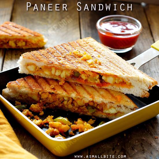 Paneer Sandwich Recipe How To Make Paneer Sandwich Asmallbite