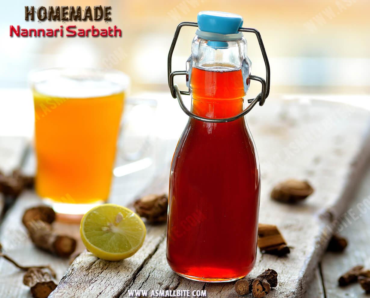 Homemade Nannari Syrup Recipe