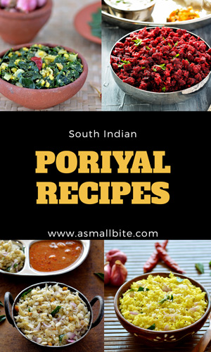 Poriyal Recipe Index