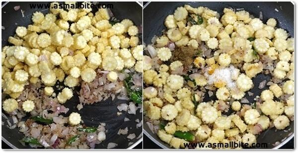 Baby Corn Pepper Fry Recipe Steps5