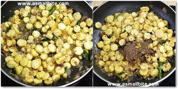 Baby Corn Pepper Fry Recipe Steps6