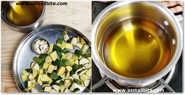 Cut Raw Mango Pickle Recipe Step4